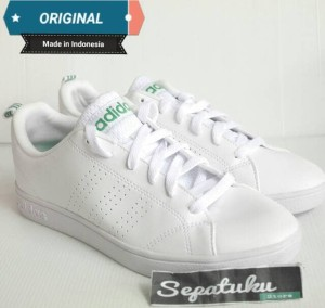 a19e22b8f promo code for wholesale online 47244 3418d sepatu adidas neo advantage  clean white list green original