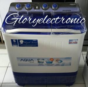 Mesin Cuci AQUA 2 Tabung 1080XT 10KG 10 KG BIG JUMBO CAPACITY HIJAB