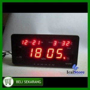 Jam Dinding Digital Led Tipe Cx 2158 Merah Best Seller .