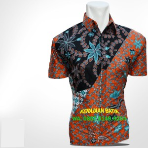 BPS67 Kemeja Batik Baru Lengan Pendek Kaos-Lea-Serambi Batik-Celana