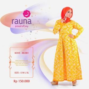 Gamis Rauna RK 001 / Dress Muslim Diskon