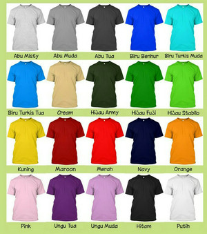 kaos polos unisex cotton combed 20s - size L