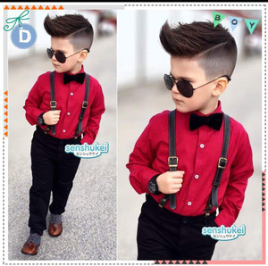 STELAN ANAK SENSHUKEI23 4IN1 RED SUSPENDER Size 8-13th