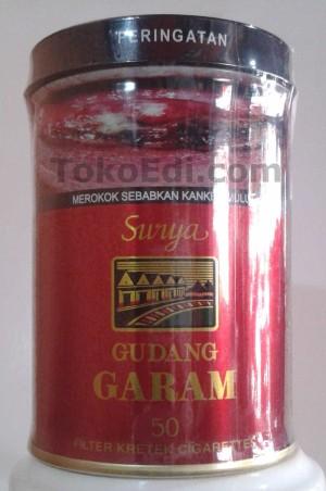 Kaleng Rokok Gudang Garam Surya 50