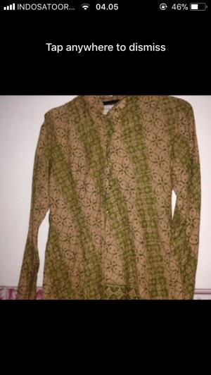 baju wanita batik hijau