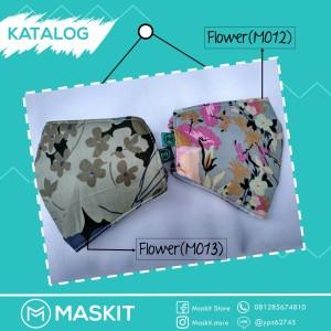 Masker Mulut/ Hidung Teknologi Karbon Aktif & Nanosilver - Flower