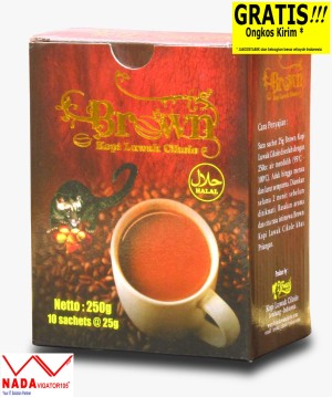 KLC Kopi Luwak Cikole Brown Coffee 3 in 1 10's 250gr