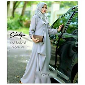 Jual Saskia Maxi Dress Muslim Cewek - Bahan Halus - Bermerek