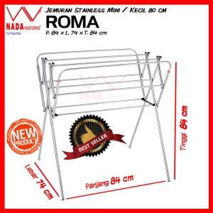 ROMA Jemuran Baju Stainless Steel KECIL 85cm