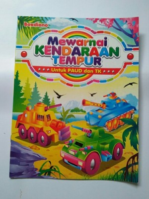 Jual Buku Mewarnai Kendaraan Jakarta Selatan Vinash Shop Tokopedia