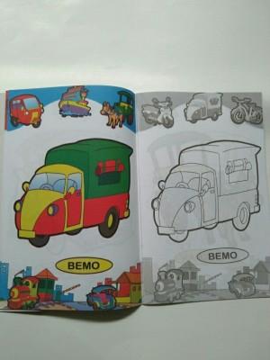 Jual Buku Mewarnai Transportasi Jakarta Selatan Vinash Shop Tokopedia