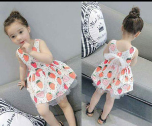 DRESS ANAK STRAWBERRY FASHION / BAJU ANAK