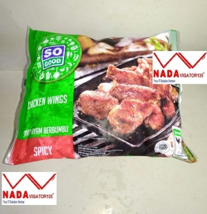 So Good Chicken Spicy Wing 400gr/ Ayam Spicy Wing Frozen 400gr SG Food