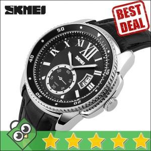 Jam Tangan Pria Analog SKMEI Casual Men Leather Watch Original 1135CL