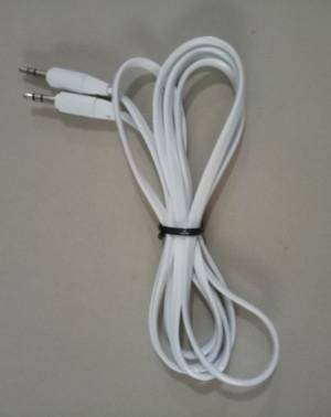 Kabel Aux 1 x 1 Panjang 1.5 M Welkin (Gepeng, Bagus dan Murah)