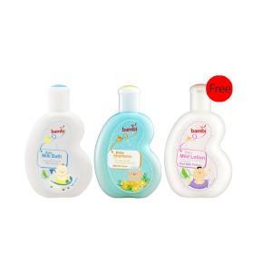 Bambi Shampoo + Milk bath free Mild Lotion