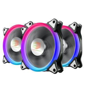 CUBE GAMING AURA FLOWING RGB DOUBLE RING FANS 3 Pcs Ring Fan + Wireles