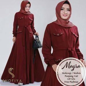 Mayra Maxy Dress Cewek - Bahan Balotely - Bagus - Acara Formal - Cocok