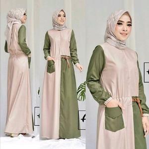 Busana Dress Cewek - Alana Dress Muslim Bahan Balotely - Feminine - Im
