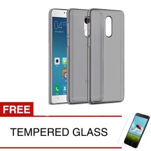 Case for Xiaomi Redmi Note 4 - Abu-abu + Gratis Tempered Glass - Ultra