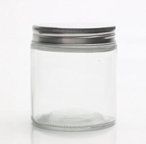 400ml Botol Toples Jar ( kaca ), Tutup ALUMINIUM : Tinggi & Luas