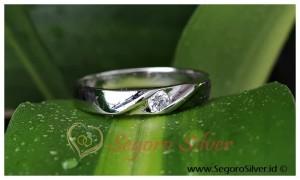 Cincin Single Perak Silver Cincin Kawin 950 Silver