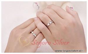 Cincin Nikah Love Holl Couple Original Silver