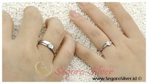 Cincin Tunangan Perak Asli Cincin Nikah