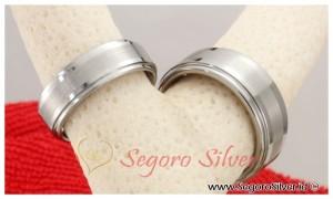 Cincin Simpel Elegan Perak Cincin Nikah Silver