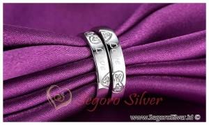 Cincin Tunangan Ekslusif Ukir Nama Original Silver