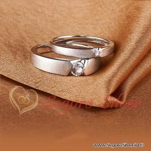 Cincin Perak Doff Cincin Nikah Cincin Couple Silver