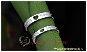 Cincin Couple Perak Cincin Asli Silver original