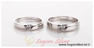 Cincin Couple Perak Kadar Murni Silver 950