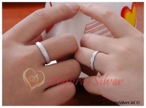 Cincin Perak Motif Pasir Cincin Couple