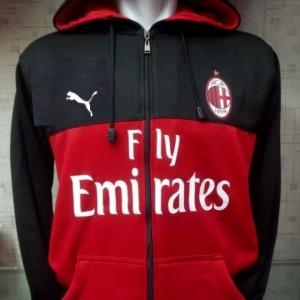 Jaket hoodie Ac Milan terbaru 2018 - 2019