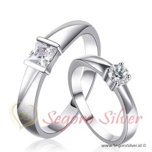 Cincin Perak Couple Tunangan Original Silver
