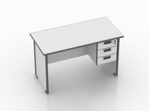 Modera Meja Kantor + Laci Gantung - MOD122 White