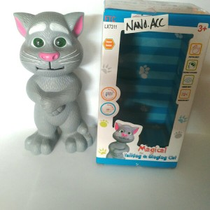 mainan edukasi boneka talking tom cat bahasa indonesia kucing tom