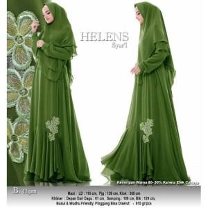 Baju Busana Muslim Wanita Gamis Syari Pesta Helens Ceruty Terbaru