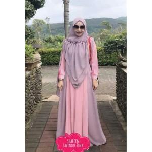 Baju Busana Muslim Wanita Gamis Syari Pesta Shareena Ceruty Terbaru