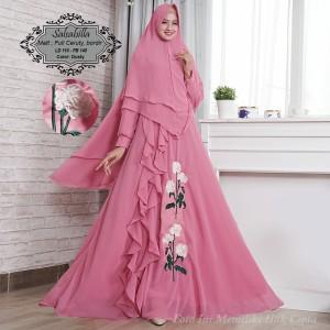 Baju Busana Muslim Wanita Gamis Syari Pesta Salsabila Ceruty Terbaru