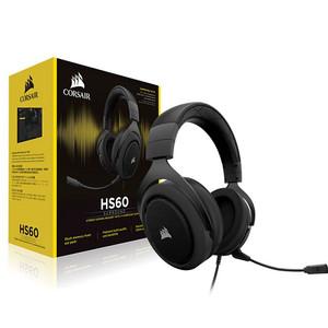 CORSAIR HS60 CA-9011173 7.1 Virtual Surround Sound PC Gaming Headset w//USB DAC