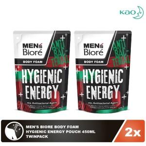 Men'S Biore Body Foam Hygienic Energy Pouch 450mL Twinpack