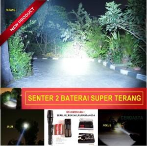 Senter Swat 2 Baterai 18650 super terang