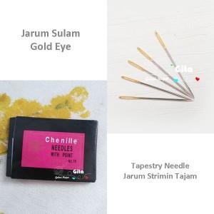 (2pcs) Jarum Sulam/Jarum Kristik/Jarum Strimin Tajam/Tapestry Needle