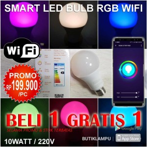 Lampu Smart LED Bulb RGB Wifi Color light Model Philips Hue / Xiaomi