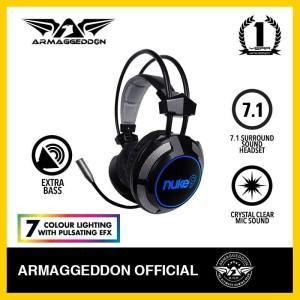 Headphone Headshet Gaming Armaggeddon Nuke 9 (7 colour lighting)