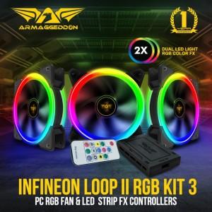 Fan Pc Armaggeddon Infineon Loop II 2 RGB KIT 3 & FX Controller