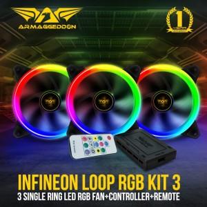 Fan Pc Armaggeddon Infineon Loop RGB KIT 3 & Led Strip FX Controller
