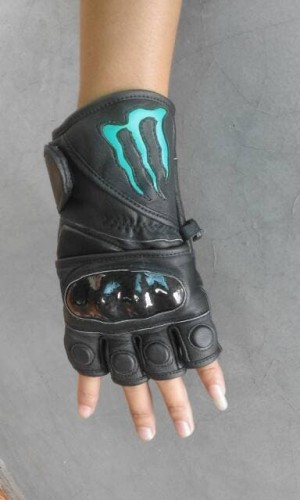 Sarung tangan motor kulit model ME-02 (Monster Energy)